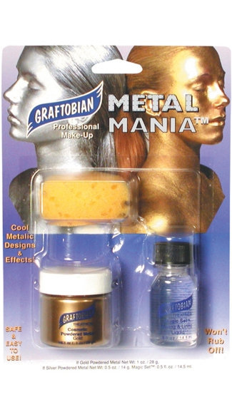 Gold Metal Mania Combo Pack, Metallic Gold Make Up Kit
