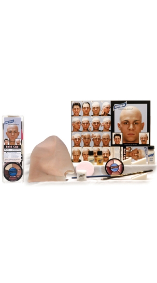 Complete Boxed Bald Cap Kit, Deluxe Bald Cap Kit