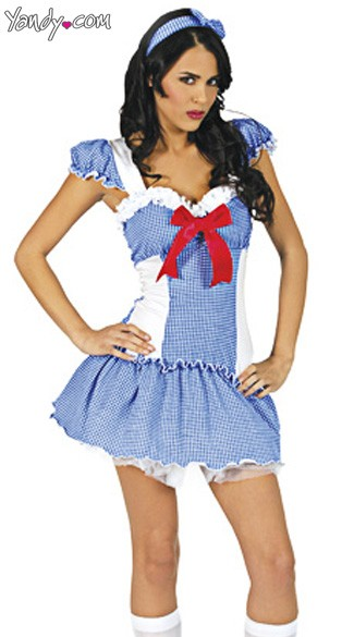 Gingham Girl Costume, Adult Gingham Costume, Movie Character Costume
