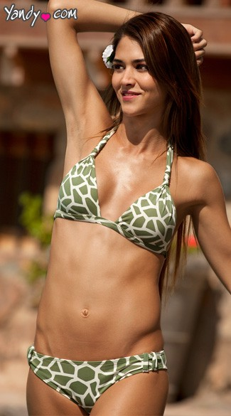 Jungle Print Bikini Bottoms