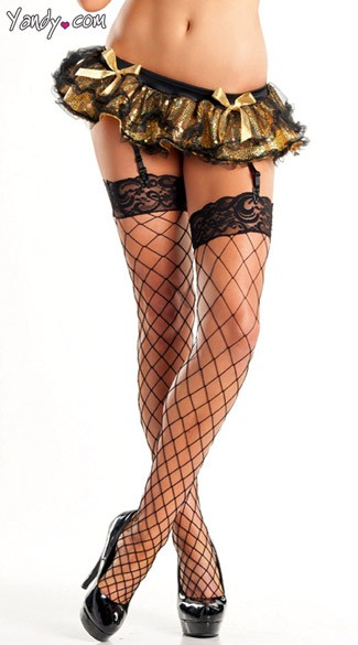 Sequin Mini Skirt with Garters