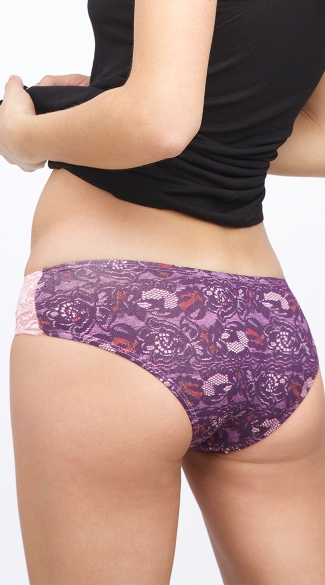 Grape Scented Purple Graphic Full Back Panty