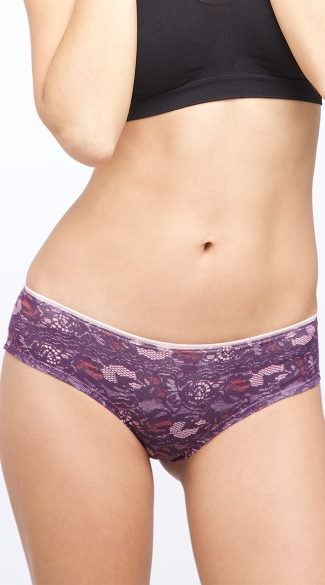 Purple Print and Lace Grape Scented Cheeky Panty