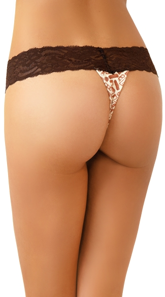 Chocolate Bar Print Thong with Chocolate Scent