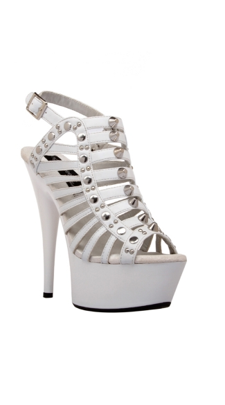 "6"" Stud Detail Strappy Platform Shoes"
