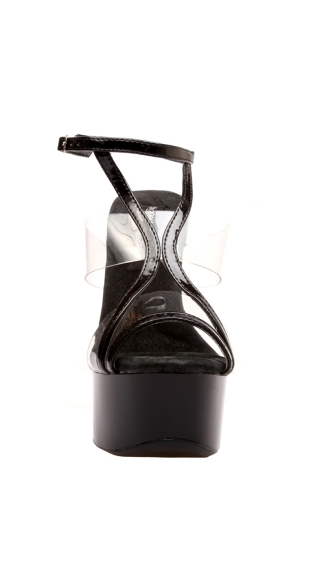 "6"" Platform Sandal With Clear Vinyl Panel Inserts"