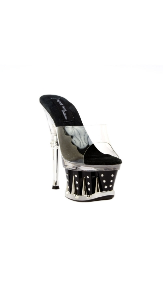 Chantel Spike Platform Shoe, Clear Platform Shoes, Clear Plastic High Heels