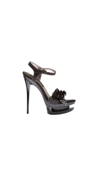 Diamond Ruffle Rhinestone Stiletto Shoe