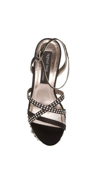 Envy Cut Out Rhinestone Platform Shoe
