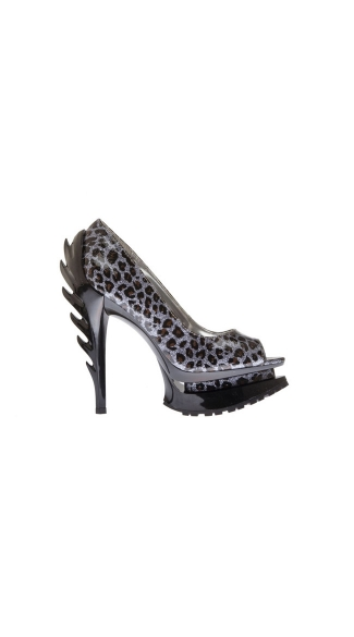 Razor Hot Peep Toe Pump with Double Platform