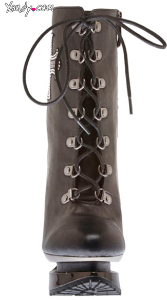 Flame Tie Up Boot