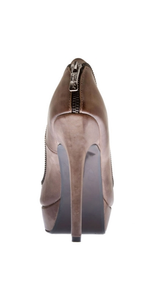Foxy Zipper Peep Toe Pump