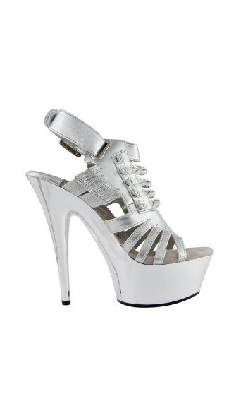 "6"" Open Toe Platform Sandal With Knot Detailing"