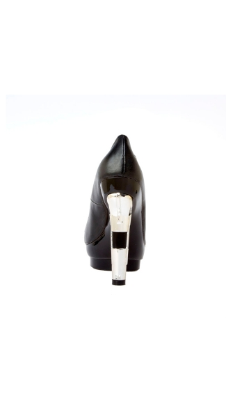 "4 1/2"" Open Toe Gun Heel Pump With Hand Cuff"