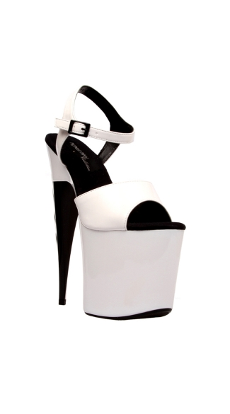 "7 1/2"" Platform With Ankle Strap & Inferno Heel"