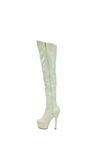 "6"" Thigh High Platform Stretch Boot"