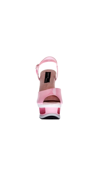 "6"" Cut Out Platform With Plain Upper And Quarter Strap"