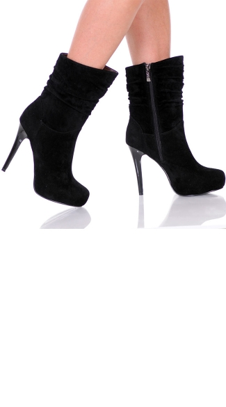 "5"" Pull Over Platform Micro Suede Bootie"
