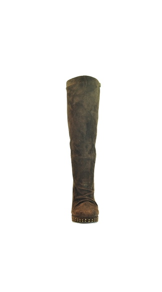 "4 1/2"" Knee High Suede Boot With Stud Detailing"