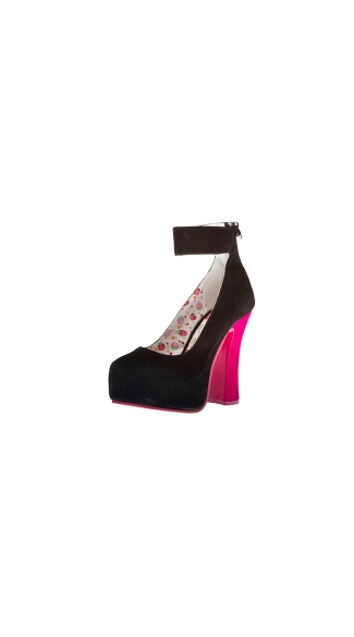 "5"" Chunky Heel Platform With Ankle Strap"