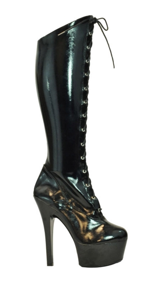 Brutally Sexy Patent Stretch Knee High Boot