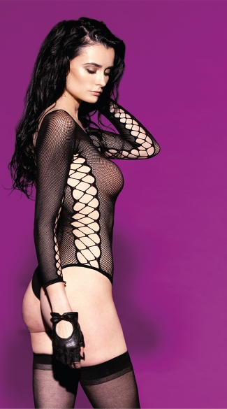 Sheer Vixen Fishnet Teddy