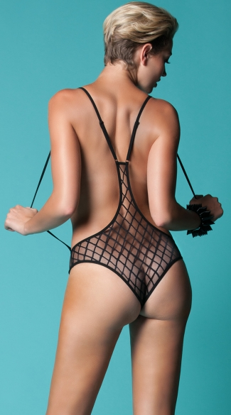 Seductress Diamond Mesh Teddy
