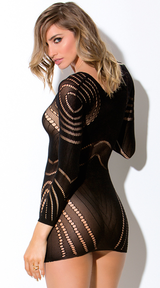 Circular Netted Long Sleeve Chemise
