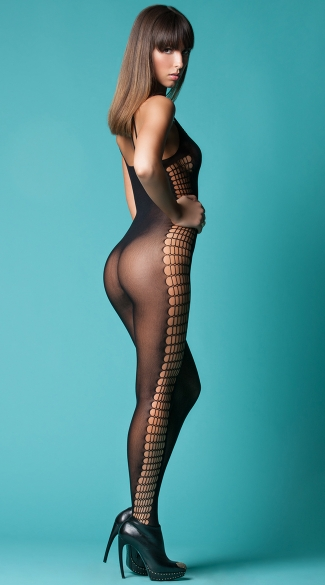 Command Attention Scoop Neck Bodystocking