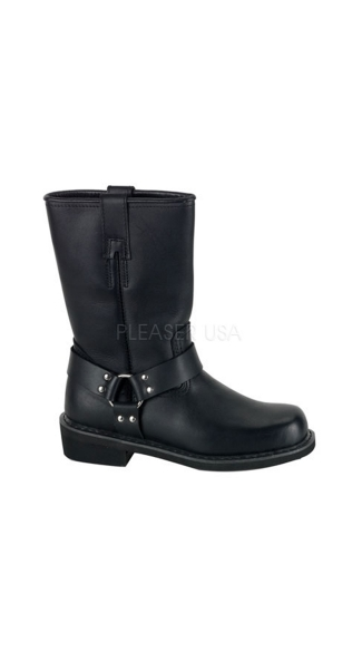 Mens Black Leather Calf Boot