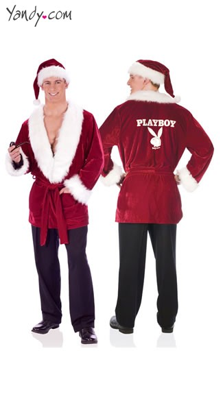 Hef\\\\\\\'s Playboy Holiday Smoking Jacket