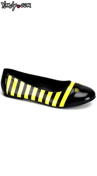Honey Bee Flat Shoes, Bee Costume Shoes