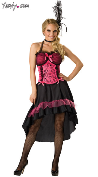 Saloon Girl Costume, Can Can Girl Costume, Burlesque Dancer Costume