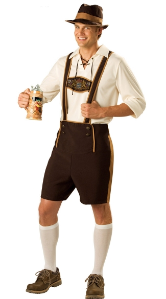 Mens German Lederhosen Costume, Beer Guy Costume, German Lederhosen Costumes
