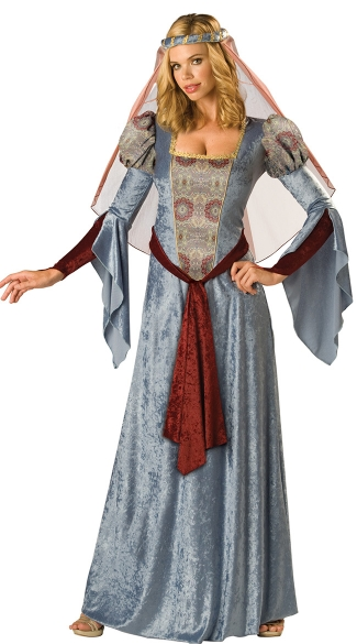 Medieval Maid Marian Costume, Medieval Wench Costume, Gray Wench Costume