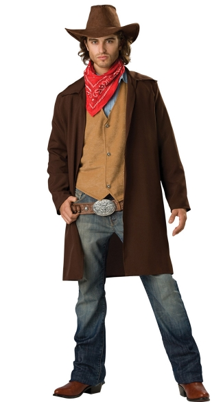 Rawhide Renegade Costume, Mens Simple Cowboy Costume, Sexy Cowboy Costume
