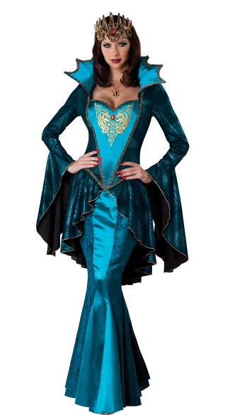 Turquoise Medieval Queen Costume