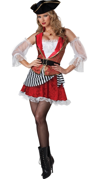 Adult Pretty Pirate Costume, Female Pirate Costume