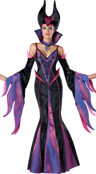 Deluxe Fairytale Witch Costume, Dark Sorceress Costume, Movie Witch Costume