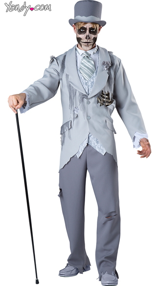 Corpse Groom Costume, Zombie Groom Costume, Men\'s Zombie Halloween Costume