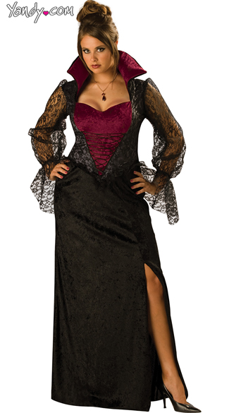 Plus Size Midnight Vampiress Costume Plus Size Vampire