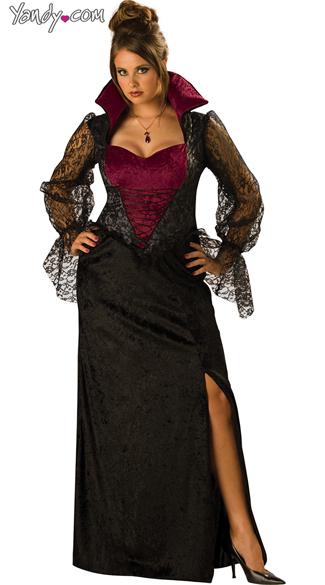 Ic Free Shipping >> Plus Size Midnight Vampiress Costume, Plus Size Vampire ...