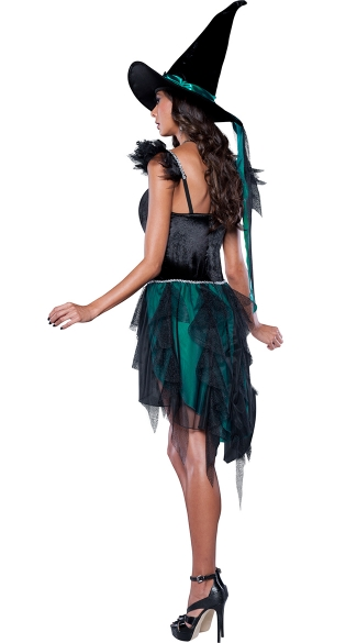 Deluxe Turquoise Witch Costume
