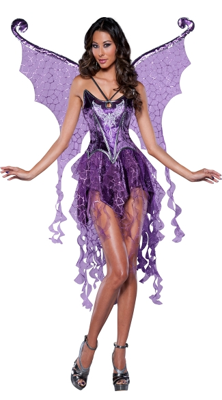Deluxe Purple Fairy Costume, Naughty Nymph Costume