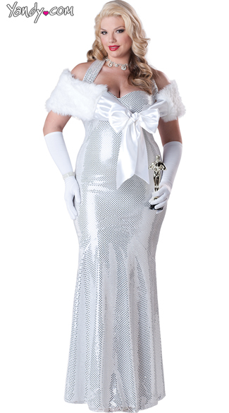 Plus Size Seductive Starlet Costume, Plus Size Movie Star Costume, Plus Size Hollywood Costume