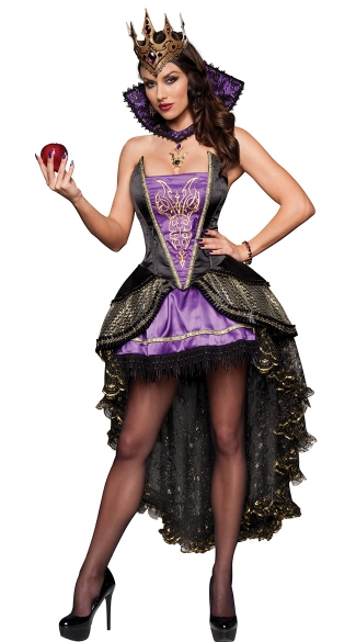 Deluxe Evil Queen Costume, Deluxe Purple Queen Costume, Snow White Evil Witch Costume
