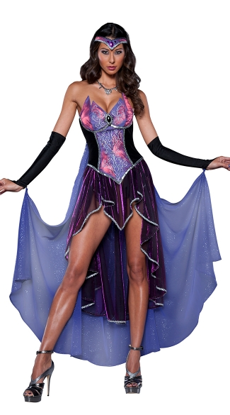 Deluxe Sorceress Costume, Seductive Sorceress Witch Costume