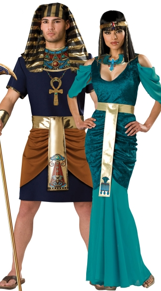 Egyptian Rulers Couples Costume, Pharaoh And Queen Couples Costume, Pharaoh And Cleopatra Couples Costume