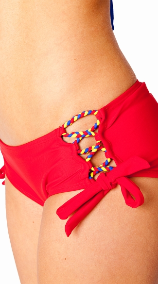 Super Girl Braided Bandeau and Cheeky Short