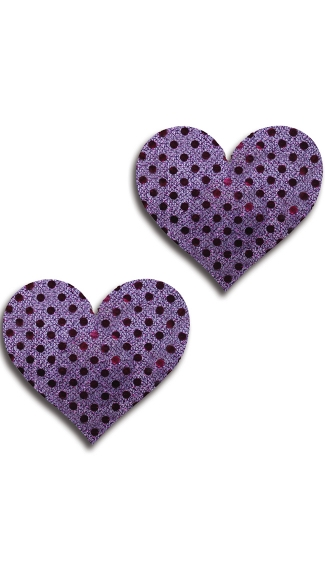 Purple Dot Heart Pasties, Purple Heart Pasties